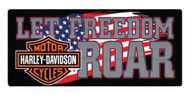 Harley-Davidson® Freedom Roar B&S Embossed Tin Sign, 18 x 8 inches 2010791 - Wisconsin Harley-Davidson