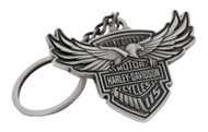Harley-Davidson® 115th Anniversary Key Chain Custom Shaped, Silver HDKD115 - Wisconsin Harley-Davidson