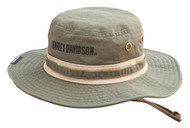 Harley-Davidson® Men's Embroidered Bar & Shield Boonie Cotton Twill Hat HD-478 - Wisconsin Harley-Davidson