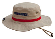 Harley-Davidson® Men's Embroidered #1 Boonie Cotton Twill Hat, Khaki HD-477 - Wisconsin Harley-Davidson