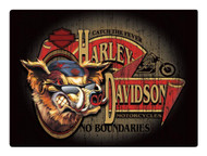 Harley-Davidson® No Boundaries Hog Embossed Tin Sign, 17.125 x 12.5625 in 2010491 - Wisconsin Harley-Davidson