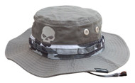 Harley-Davidson® Men's Embroidered Camo Boonie Cotton Twill Hat, Gray HD-475 - Wisconsin Harley-Davidson