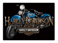 Harley-Davidson® Old Blue Motorcycle Embossed Tin Sign, 17 x 12.5 inches 2011331 - Wisconsin Harley-Davidson