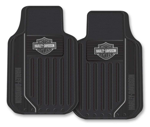 Harley-Davidson® Floor Mats, Elite Series Bar & Shield Logo, Non-Carpeted, 1467G - Wisconsin Harley-Davidson