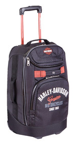 "Harley-Davidson® 26"" Tail of The Dragon Pullman Wheeling Luggage, Black 99825 BLK - Wisconsin Harley-Davidson"