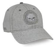 Harley-Davidson® Women's Willie G Skull Stone Washed Baseball Cap, Gray BC102954 - Wisconsin Harley-Davidson