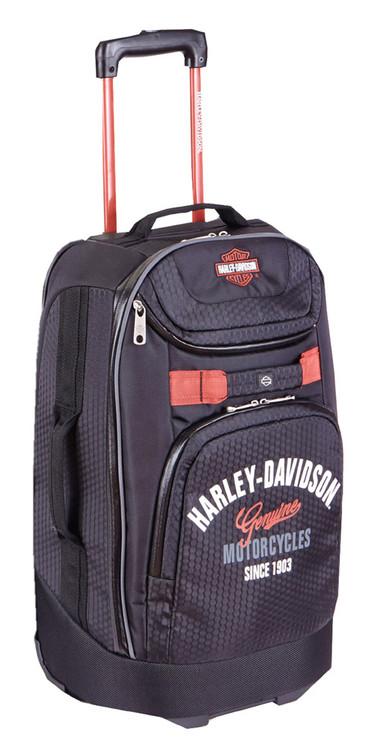 "Harley-Davidson® 29"" Tail of The Dragon Pullman Wheeling Luggage, Black 99830 BLK - Wisconsin Harley-Davidson"