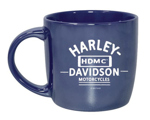 Harley-Davidson® Blue City Lustre Ceramic Coffee Cup, Blue 14 oz. 3CLM4925 - Wisconsin Harley-Davidson