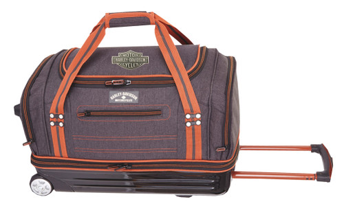 "Harley-Davidson® 27"" Fire & Ice Semi Molded Rolling Duffle, Gray Black 99129 GB - Wisconsin Harley-Davidson"