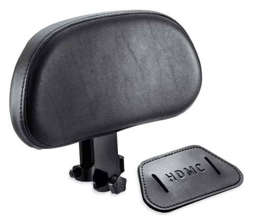 Harley-Davidson® Adjustable Rider Backrest, Fits Softail Models, Black 52300409 - Wisconsin Harley-Davidson