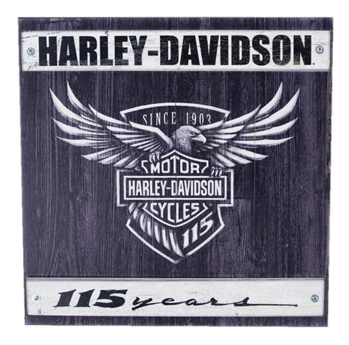 Harley-Davidson® 115th Anniversary Commemorative Wood Slate Sign W11-115-HARL - Wisconsin Harley-Davidson
