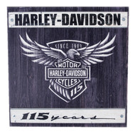 Harley-Davidson® 115th Anniversary Commemorative Wood Slate Sign W11-115-HARL - Wisconsin Harley-Davidson