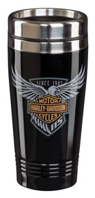 Harley-Davidson® 115th Anniversary Limited Edition Travel Mug - Black HDX-98602 - Wisconsin Harley-Davidson