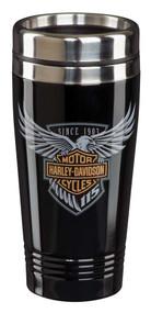 Harley-Davidson® 115th Anniversary Limited Edition Travel Mug - Black HDX-98602 - Wisconsin Harley-Davidson