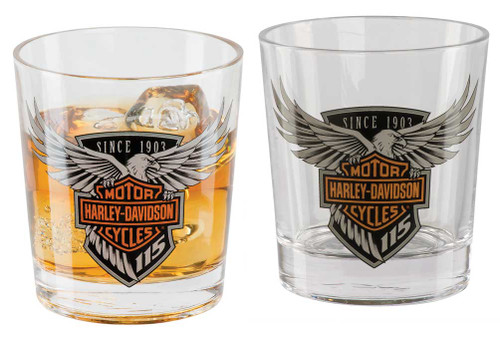 Harley-Davidson® 115th Anniversary Double Old Fashioned Set, 12 oz. HDX-98701 - Wisconsin Harley-Davidson