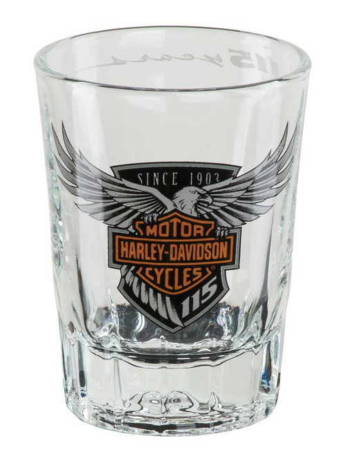 Harley-Davidson® 115th Anniversary Limited Edition Shot Glass, 2 oz. HDX-98703 - Wisconsin Harley-Davidson