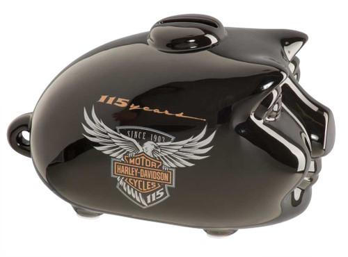 Harley-Davidson® 115th Anniversary Limited Edition Mini Hog Bank, Black HDX-99100 - Wisconsin Harley-Davidson