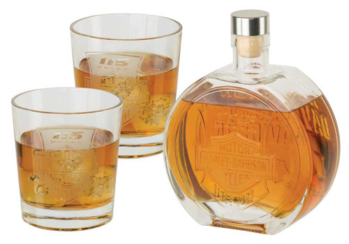 Harley-Davidson® 115th Anniversary Limited Edition Decanter Set, 25 oz. HDX-98705 - Wisconsin Harley-Davidson