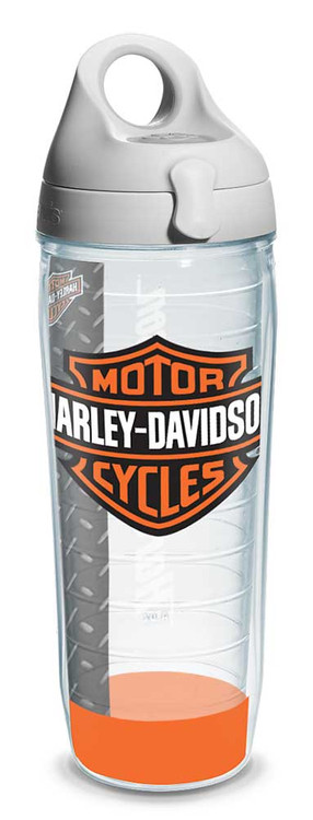 Harley-Davidson® Bar & Shield Logo Water Bottle w/ White Lid, 24 oz. 1124953 - Wisconsin Harley-Davidson