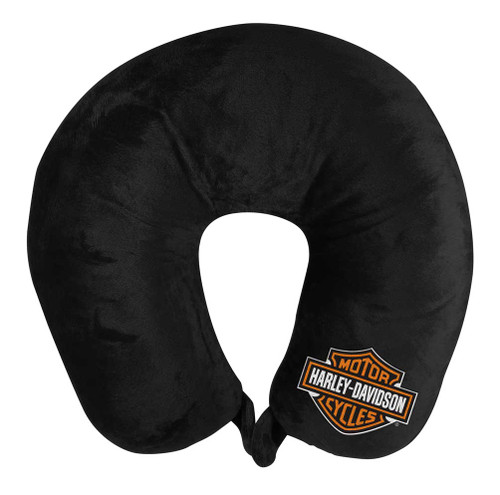 Harley-Davidson® Embroidered Bar & Shield Travel Neck Pillow, Black NW949164 - Wisconsin Harley-Davidson