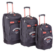 Harley-Davidson® 3 Piece Luggage Set Tail of The Dragon Pullman Wheeling Black - Wisconsin Harley-Davidson