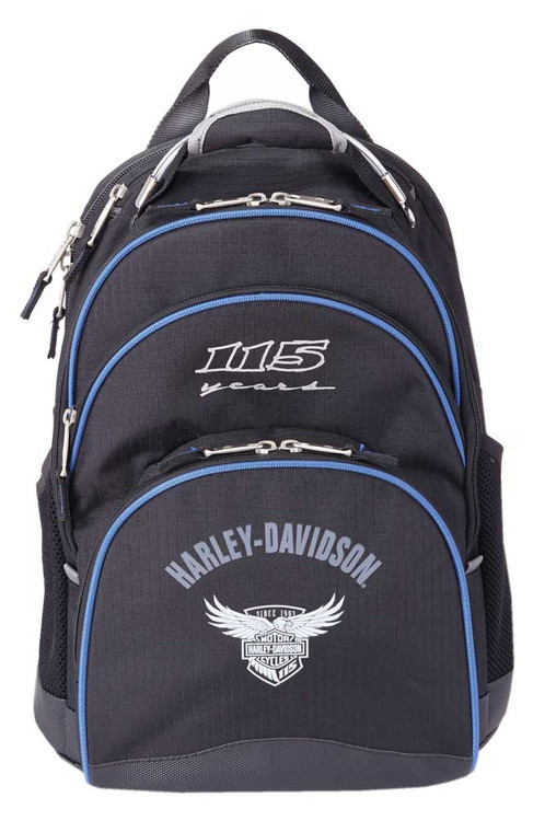 """Harley-Davidson® 115th Anniversary Collection """"Steel-Cable"""" Backpack, Black 99220 - Wisconsin Harley-Davidson"""
