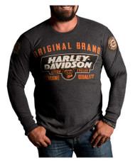 Harley-Davidson® Men's Lets Ride Premium Long Sleeve Shirt, Charcoal Heather - Wisconsin Harley-Davidson