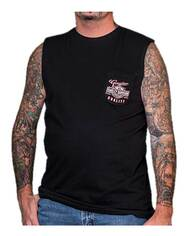 Harley-Davidson® Men's Genuine Bar & Shield Chest Pocket Sleeveless Muscle Tee - Wisconsin Harley-Davidson
