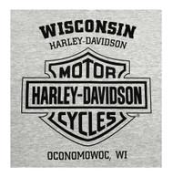 Harley-Davidson® Men's Diamond Knucklehead Sleeveless Muscle Tee, Heather Gray - Wisconsin Harley-Davidson