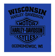 Harley-Davidson® Men's Helmet Head Crew Neck Short Sleeve T-Shirt, Royal Blue - Wisconsin Harley-Davidson