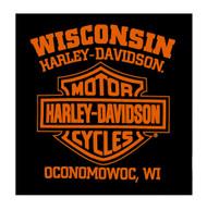 Harley-Davidson® Men's Webbed H-D Skull Short Sleeve T-Shirt, Solid Black - Wisconsin Harley-Davidson