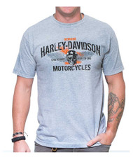 Harley-Davidson® Men's Winged Racer Crew Neck Short Sleeve T-Shirt, Athletic Gray - Wisconsin Harley-Davidson