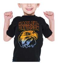 Harley-Davidson® Little Boys' Swoop Thermo Print Short Sleeve Toddler Tee, Black - Wisconsin Harley-Davidson