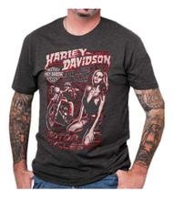 Harley-Davidson® Men's Vintage Poster Crew Neck Short Sleeve T-Shirt, Charcoal - Wisconsin Harley-Davidson