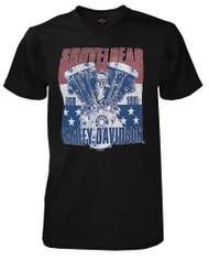 Harley-Davidson® Men's The Patriot V-Twin Short Sleeve T-Shirt, Solid Black - Wisconsin Harley-Davidson