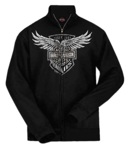 Harley-Davidson® Men's 115th Anniversary Eagle Zippered Sweatshirt, Black - Wisconsin Harley-Davidson