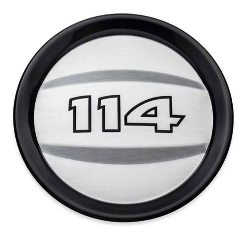 Harley-Davidson® 114 Logo Air Cleaner Trim - Brushed Chrome Aluminum 61300787 - Wisconsin Harley-Davidson