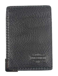Harley-Davidson® Men's Gunmetal Leather ID Cards Front Pocket Wallet GM6572L-BLK - Wisconsin Harley-Davidson