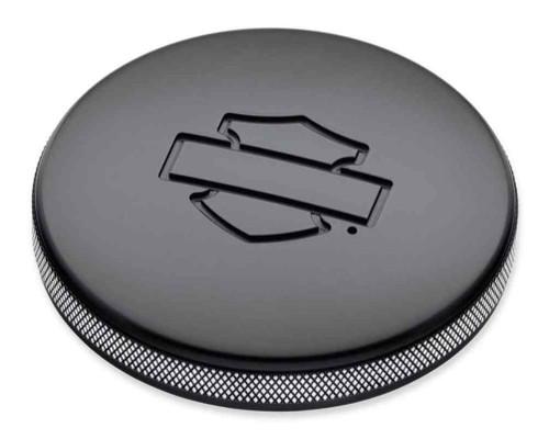 Harley-Davidson® Diamond Black Left Side Fuel Tank Cap, Softail Models 57300151 - Wisconsin Harley-Davidson