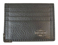 Harley-Davidson® Men's Gunmetal Leather Front Pocket Wallet, Black GM6563L-BLK - Wisconsin Harley-Davidson