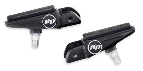 Harley-Davidson® Defiance Rider Footpegs -Black Anodized, Softail Models 50501010 - Wisconsin Harley-Davidson