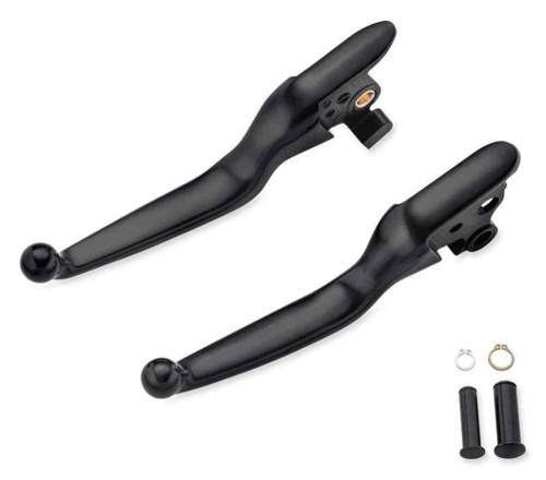 Harley-Davidson® Black Hand Control Lever Kit, Fits Softail Models 36700210 - Wisconsin Harley-Davidson