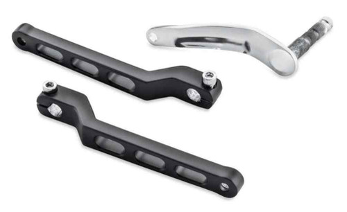 Harley-Davidson® Billet Style Heel / Toe Shift Lever, Satin Black Finish 33600165 - Wisconsin Harley-Davidson