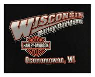 Harley-Davidson® Men's Screamin' Eagle Logo Crew-Neck Pullover Sweatshirt, Black - Wisconsin Harley-Davidson