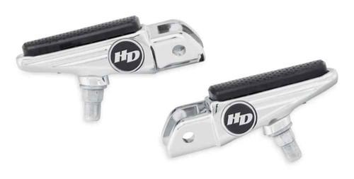 Harley-Davidson® Defiance Rider Footpegs - Chrome, Fist Softail Models 50501008 - Wisconsin Harley-Davidson
