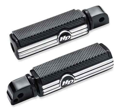 Harley-Davidson® Defiance Passenger Footpegs -Black Anodized Machine Cut 50500832 - Wisconsin Harley-Davidson