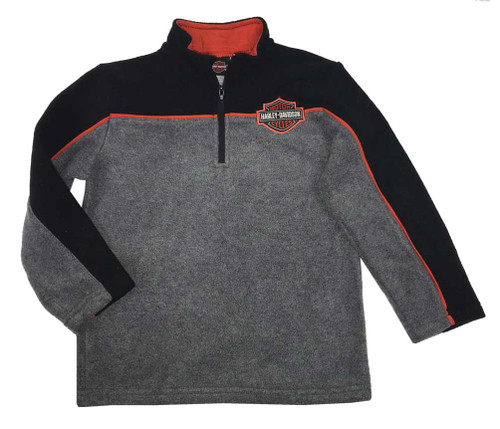 Harley-Davidson® Boy Toddler's Bar & Shield Polar Fleece 1/4 Zip Jacket 6574715 - Wisconsin Harley-Davidson