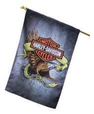 Harley-Davidson® Suede Legendary Eagle House Flag, Double Sided 13S4920FB - Wisconsin Harley-Davidson