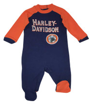 Harley-Davidson® Baby Boys' Interlock Footed Newborn Coverall with Patch 3054507 - Wisconsin Harley-Davidson