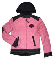 Harley-Davidson® Big Girls' Bar & Shield Polyfil Fully Lined Zip Jacket 6043575 - Wisconsin Harley-Davidson